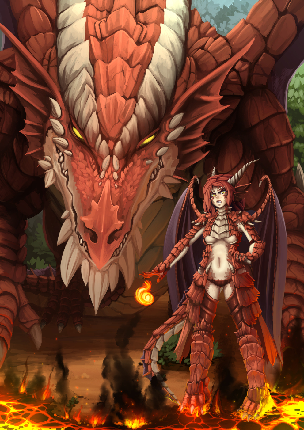 Dnd Red Dragon Remade By Barbariank On Deviantart
