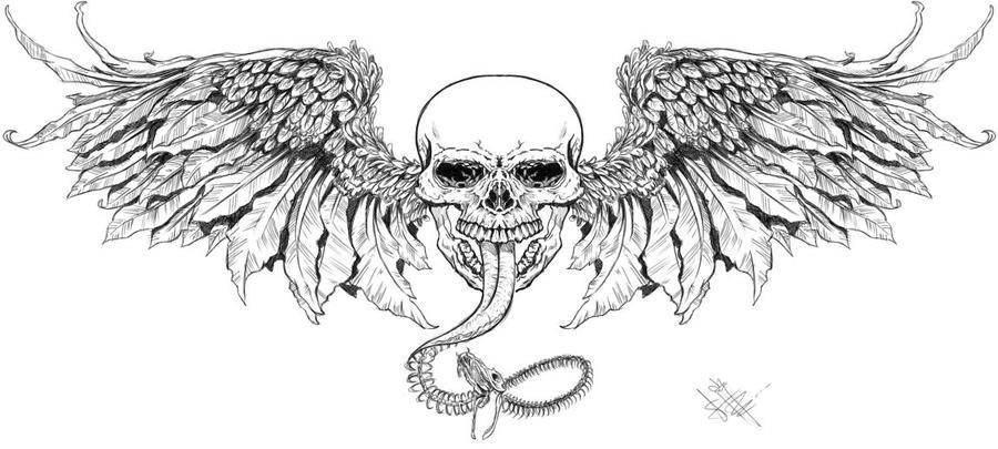 Skull by Hanyu-Kyo