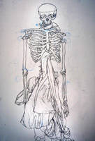 Drawing II Skeleton Drawing by JRTribe