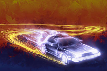 Neon Back to the Future by JRTribe