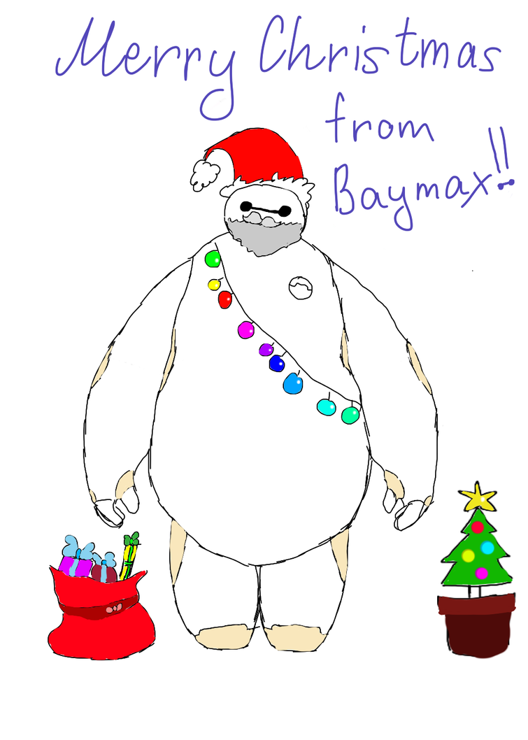 Merry Christmas from Baymax by Ilovear on DeviantArt