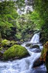 Waterfall in rainy season