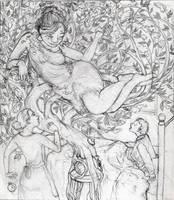 The Elderflower Witch Sketch by hanerethund