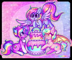 GA: Glittery Happy Birthday by Dolcisprinkles
