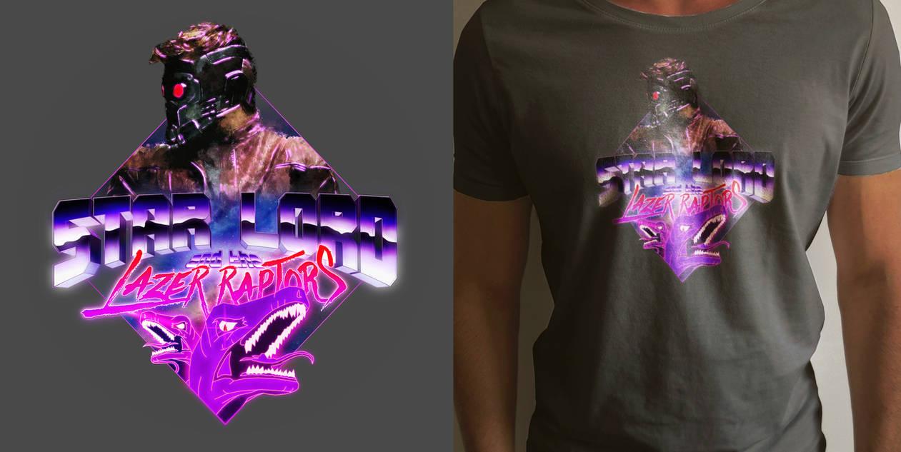 Star Lord and the Lazer Raptors T-Shirt Art by MattiAusmNorden