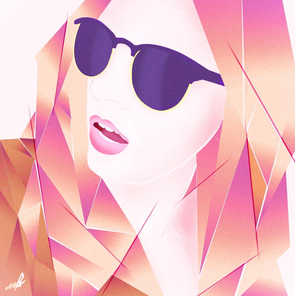 80s Vector Girl by MattiAusmNorden