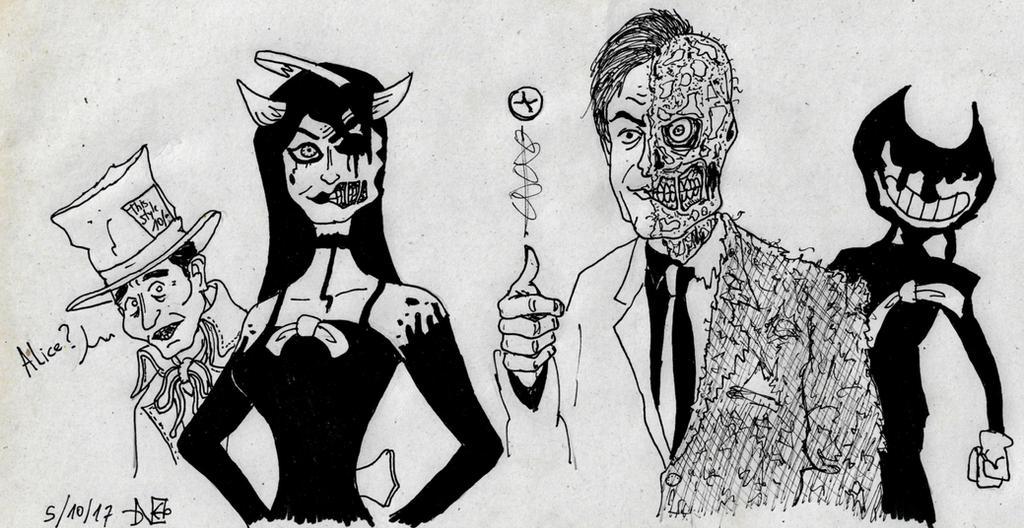 Ink Faces by Blackaddergoesforth