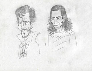 Doctor Strange and Loki by Blackaddergoesforth