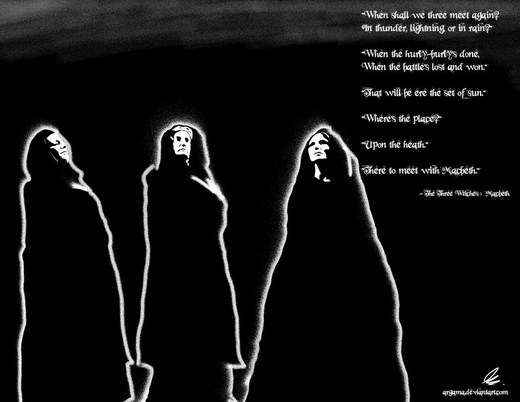Macbeth Three Witches Drawing The Three Witches of Macbeth