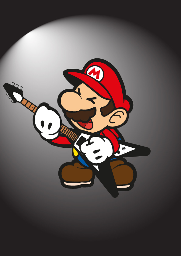 Mario rock out by titnendo on deviantart