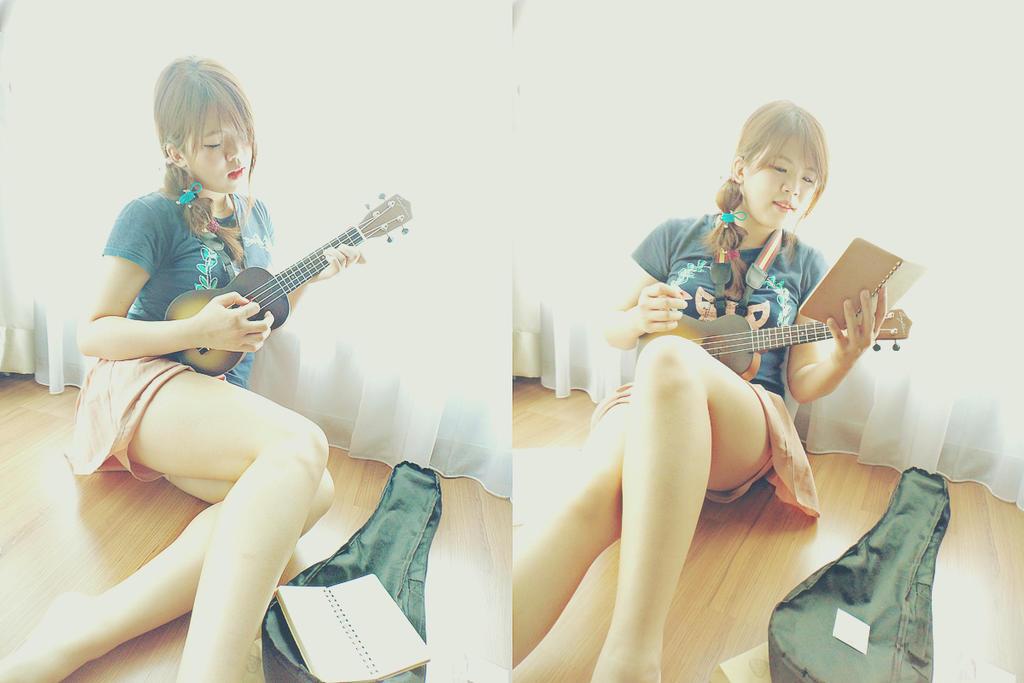 me and my ukulele3 by creamypumpkin