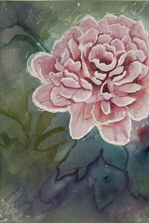 Watercolor Peony by drastic77