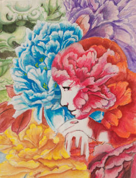 Lion Lady and the Peony