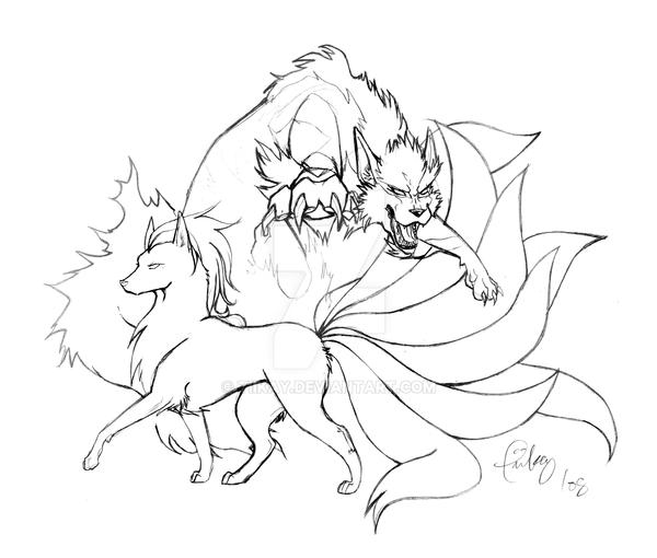 pokemon coloring pages ninetails - photo#36