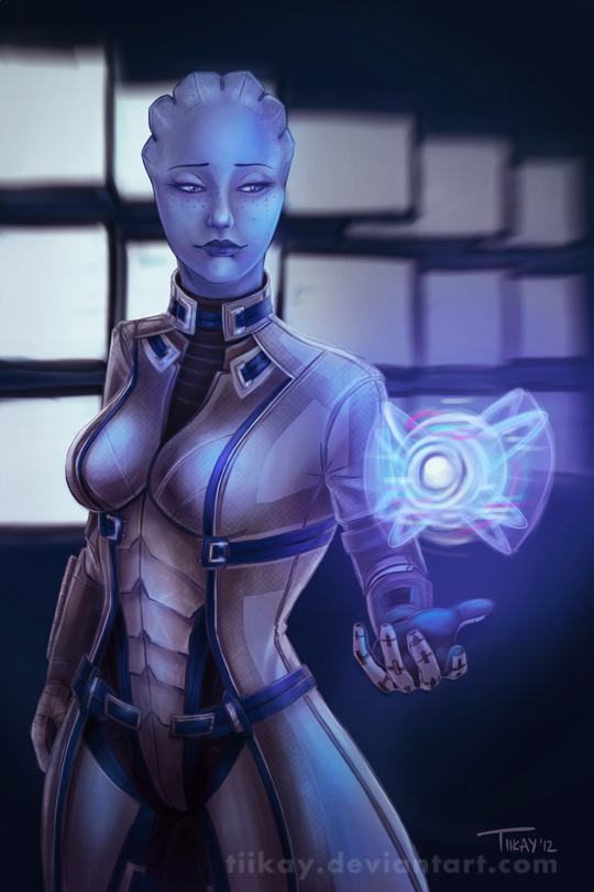 ME3: Liara and Glyph by tiikay