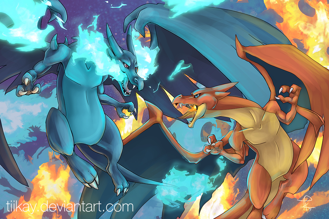 Mega Charizard X And Y Wallpaper