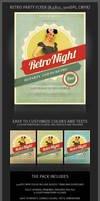 Retro Party Flyer Template