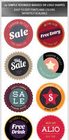 20 Simple Rounded Badges or Logo Shapes