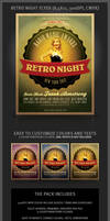 Retro Night Flyer Template by hugoo13