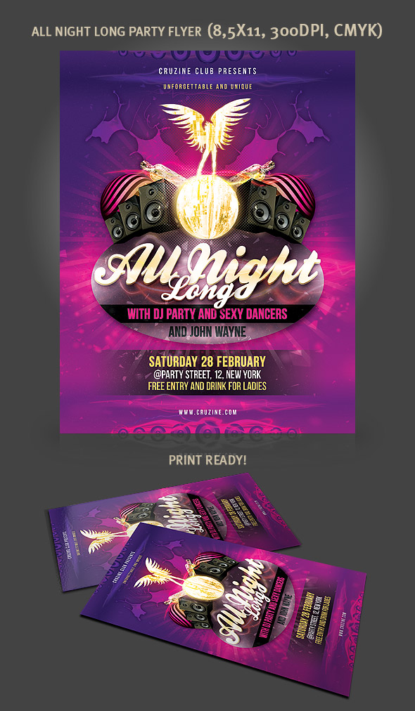 Free Party Flyer Template By Hugoo13 On Deviantart