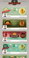 5 Retro Facebook Timeline Cover Templates