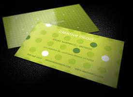 Creative business card template by LogoIdol by hugoo13