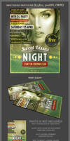 Sweet kisses party flyer template
