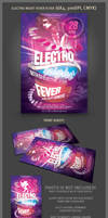 Electro Night Fever Flyer Template
