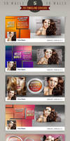5 Facebook Timeline Cover Templates - 3D Walls