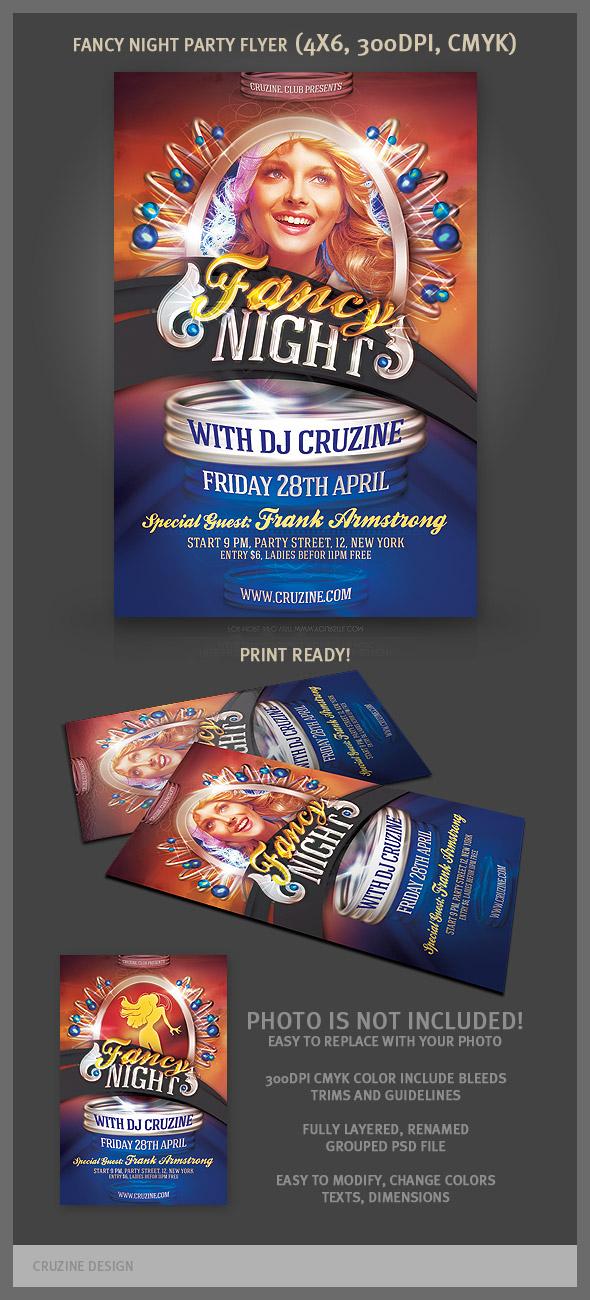Fancy Night Party Flyer Template by hugoo13