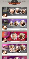 5 Facebook Timeline Covers - 3D rings