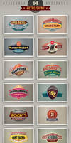 14 retro signs or banners Vol.2