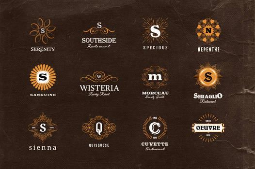 Simple Retro Logo Templates v.1