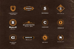 Simple Retro Logo Templates v.1 by hugoo13