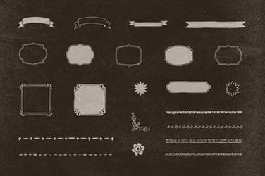 22 Hand Illustrated Vintage Shapes by hugoo13