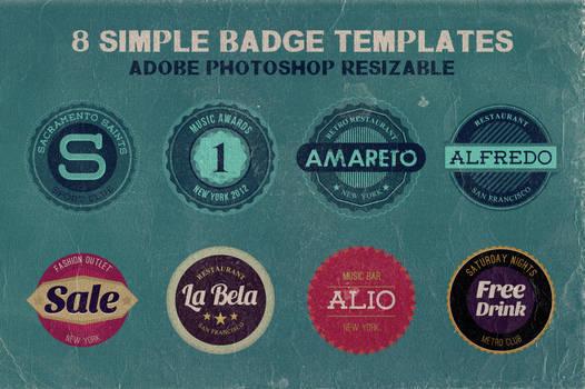 8 FREE Simple Badge Templates
