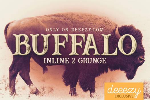 Buffalo Inline 2 Grunge Font - FREEBIE