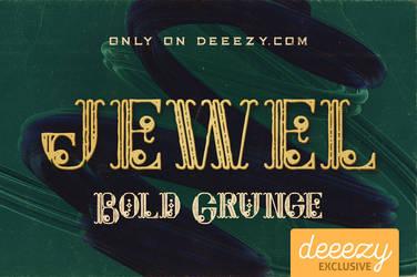 Jewel Bold Grunge Font - FREEBIE