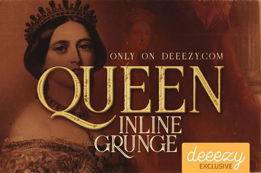 Queen Inline Grunge Font - FREEBIE