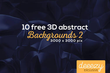 10 Abstract 3D Backgrounds 2 - FREEBIE