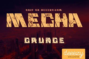Mecha Grunge Font - FREEBIE
