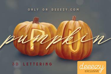 Pumpkin 3D Lettering - FREEBIE