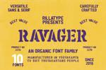 Ravager - Organic Typeface