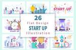26 Business Startup Flat Illustration
