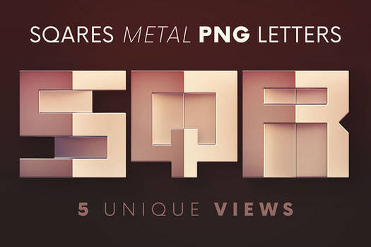 Squares Geometric - 3D Lettering