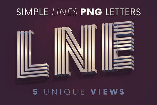 Simple Lines - 3D Lettering
