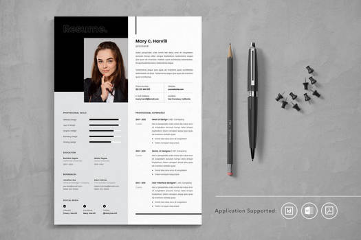 Professional CV Resume Indesign Template