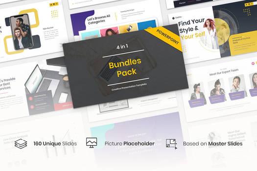 4 in 1 Bundles Pack Creative PowerPoint