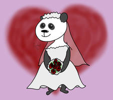 Panda Bride by kipplesnoof