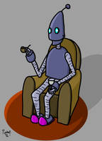 Robot Relaxing by kipplesnoof